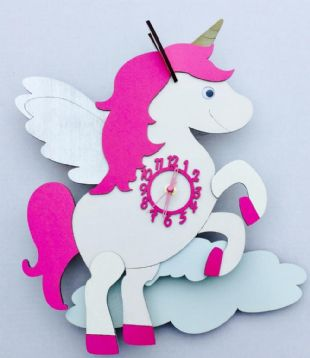 Little Timbers Unicorn Pendulum Clock